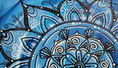 "Acrylmalerei - Mandala- Bild ""AVANI"". - ein Designerstück von PetiteMaman-Atelier bei DaWanda"