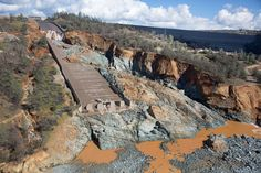 New images reveal the dramatic extent of damage to the Oroville spillway, an outlet for the Oroville Dam in northern California.