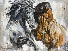 Reproductions giclées sur toile - giclée prints on canvas — Elise Genest Painted Horses, Horse Photos, Horse Pictures, Oil Pastel Colours, Horse Sketch, Horse Illustration, Horse Artwork, Horse Drawings, Horse Print