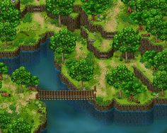Third map made as practice of parallax mapping for RPG Maker. This time, I used some Hanzo Kimuro tiles to create the base terrain and cliffs on RPG Maker itself, before exporting it to Gimp. Any s...