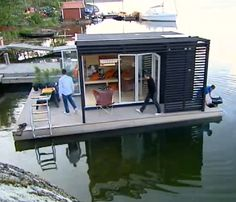 Outside of some of the more hurricane-prone areas, owning waterfront property is one of the most coveted and expensive real estate propositions out there. But in Sweden a pair of siblings decided to try an innovative, budget-conscious to owning waterfront property by building a solar-powered, floating room.