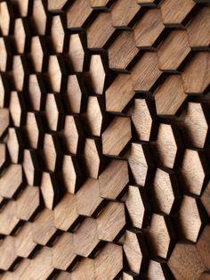 Art Innovative Surface Design by Giles Miller Studio architecture-design Surface Design, Wood Surface, Architecture Details, Interior Architecture, Pattern Texture, 3d Pattern, Hexagon Pattern, Facade Pattern, Nature Pattern