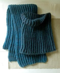 Fisherman's Rib Scarf & Cowl from the Purlbee, knit