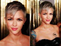 grey blonde short cut