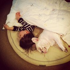 Tokyo, Japan-based mother Aya Sakai has been charting the adventures of her young son and his best friend, which just happens to be a French Bulldog, on the popular photo sharing site. Whether they're cuddling on the couch or watching tv on a cushion, the two just can't seem to get enough of each other.