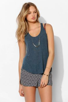 Project Social T Deep Scoop Tank Top #urbanoutfitters
