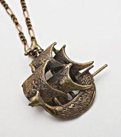 Catbird :: Flotsam & Jetsam :: Spanish Galleon ship necklace in Bronze Jewelry Box, Jewelry Accessories, Jewelry Necklaces, Pendant Jewelry, Fine Jewelry, Spanish Galleon, Fru Fru, Chronicles Of Narnia, Pirates
