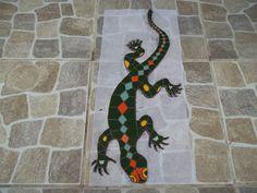 mosaico de lagartija altenativa para decoracion