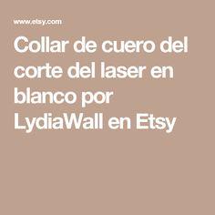 Collar de cuero del corte del laser en blanco por LydiaWall en Etsy