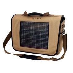Eclipse Solar Gears' Fusion Solar Messenger Bag, Canvas