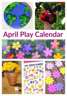 April Play Calendar for Kids - 30 Days of Aprils Activities including Earth Day, Gardening, Nature Themes and More! April Play Calendar for Kids - 30 Days of Aprils Activities including Earth Day, Gardening, Nature Themes and More! Spring Activities, Motor Activities, Craft Activities For Kids, Activity Ideas, Alphabet Activities, Creative Activities, Therapy Activities, Toddler Activities, Outdoor Activities