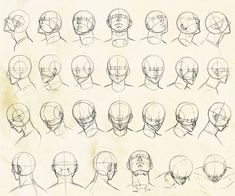 Drawing Faces Tips - Human Face Drawing, Face Drawing Reference, Drawing Heads, Anime Poses Reference, Body Drawing, Figure Drawing, Art Drawings, Drawing Faces, Face Anatomy