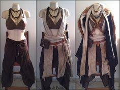 This demonstration of how a good costume takes advantage of layering comes to us from Balmore Leathercraft. Fantasy Dress, Fantasy Outfits, Fantasy Clothes, Fantasy Town, Fantasy Hair, Medieval Clothing, Medieval Outfits, Gypsy Clothing, Medieval Gown