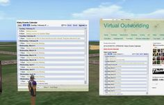 Virtual Outworlding: 2014 EVENTS: OPENSIM: Kitely Events Calendar