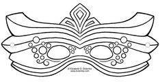 Create Your Own Mardi Gras Mask with These Free Templates: Elaborate Mardi Gras Mask Template by Elizaebth O. Dulemba