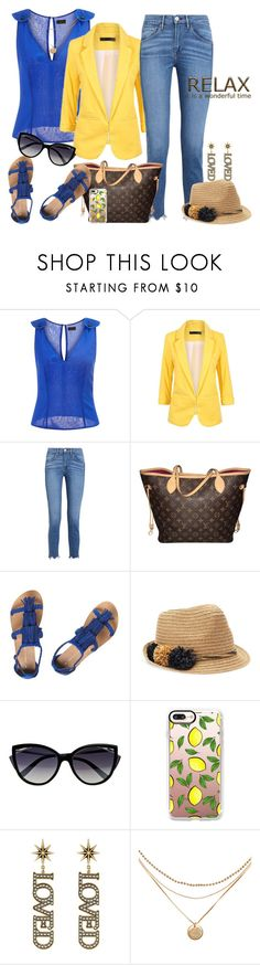 """""""Relax, Relate, Release!"""" by fashionme ❤ liked on Polyvore featuring La Perla, 3x1, Louis Vuitton, Dorothy Perkins, SONOMA Goods for Life, Casetify and Gucci"""