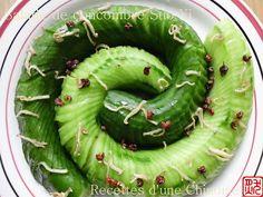 """"""" Salades et plats froids """" Recettes d'une Chinoise: Salade de concombre Suo Yi 蓑衣黄瓜 suō yī huáng guā"""