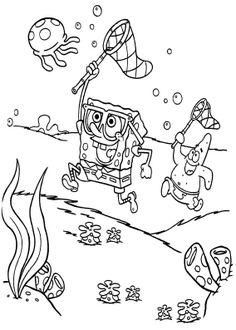 Spongebob And Patrick Coloring Page