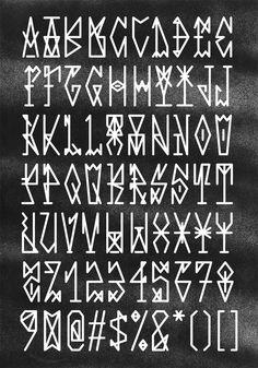 Free font based on pixação.