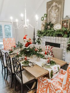 Christmas First Look: Winter Whimsy - Nell Hills Christmas Mantels, Christmas Minis, Vintage Christmas, Christmas 2019, Christmas Table Settings, Holiday Tables, Tree Decorations, Christmas Decorations, Seasonal Decor