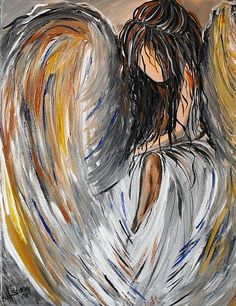 angel acrylic painting | Art: Angel of Light by Artist Elizabeth Paige VanSickle
