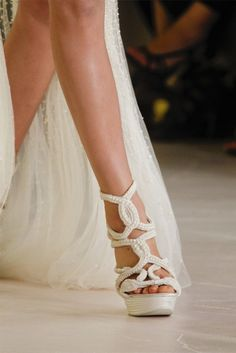 Details in white. Future shoes for my wedding? Yes, Please!