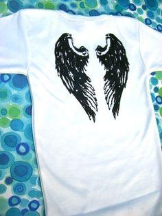 Angel Wings embellished with rhinestones  onesie  by BullyDesignCo, $16.00