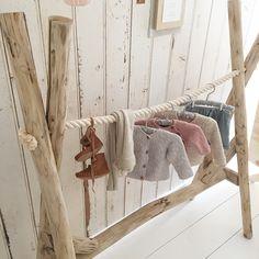 *NIEUW* Kledingrek hout boomstammen babykamer/kinderkamer