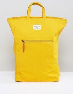 22ff74bba52357 Sandqvist Tony Backpack   Tote in Yellow
