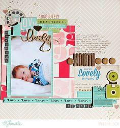 #papercraft #scrapbook #layout.   scrapbook page by shimelle laine @ shimelle.com