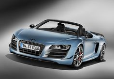 Audi has announced a limited edition convertible version of the GT Spyder. Audi R8 Gt, 2011 Audi R8, Rs6 Audi, New Audi R8, Audi A5, Audi Supercar, Audi Sport, Sport Cars, Logo Audi