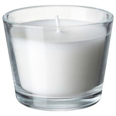 MÅTTFULL Scented candle in glass - IKEA $0.79 (17hr burn time)