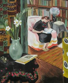 Vanessa Bell, Woman reading in an interior