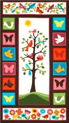 Flannel panel.  But I love the tree and the bird header.