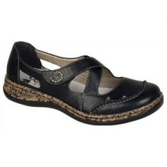 d990839c1a36 Women s Rieker-Antistress Daisy 35 - Black Mary Janes Comfortable Shoes