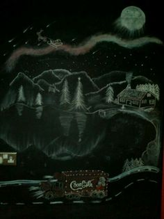 Our christmas chalkboard