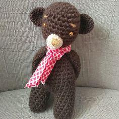 Hnědý medvídek Crochet Dolls, Teddy Bear, Toys, Animals, Activity Toys, Animales, Animaux, Clearance Toys, Teddy Bears