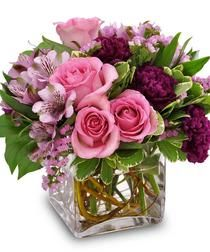 A glamorous bouquet of fresh flowers in delectable shades of raspberry, lavender and pink roses, alstroemeria lilies and more is sure to delight any lucky recipient. Spring Flower Arrangements, Rose Arrangements, Beautiful Flower Arrangements, Elegant Flowers, Floral Centerpieces, Fresh Flowers, Spring Flowers, Beautiful Flowers, Birthday Flower Arrangements