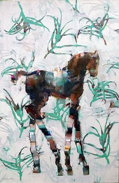 Aloe Filly - Painting by Pascale Chandler