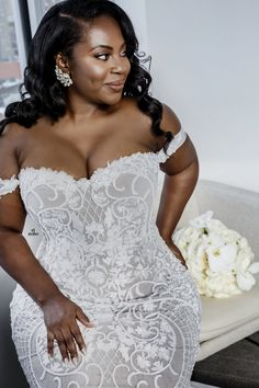 115 Likes, 8 Comments - Ilona Rubin Plus Size Wedding Gowns, Black Wedding Dresses, Bridal Dresses, Plus Size Brides, Wedding Attire, Wedding Bride, Wedding Ideas, African American Brides, Curvy Bride