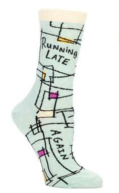 running late fun novelty socks by blue q