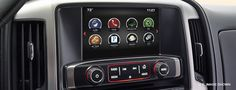 Available 8-inch colour touch-screen IntelliLink for the GMC Sierra 2500HD.