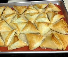 Authentic Armenian Boeregs ~ Phyllo Triangles Filled with Cheeses   Taking On Magazines One Recipe at a Time
