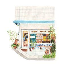 No.67 - Nata de Cristiano storefront, Shibuya. Illustration by Justine Wong of Patterns and PortraitsFind me on instagram / store / portfolio