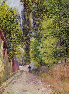 Landscape near Louveciennes, 1876 (oil on canvas) by Sisley, Alfred Impressionist Landscape, Post Impressionism, Impressionist Paintings, Landscape Paintings, Pierre Auguste Renoir, Claude Monet, Paul Cezanne, Sisley Alfred, Charles Gleyre