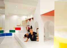 Pixy Hall kindergarten by Moriyuki Ochiai Architects | Play modules