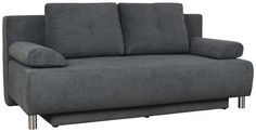 Schlafsofa in Anthrazit mit 160 x 200 cm großer Liegefläche und Bettkasten Sofa Couch, Box, Love Seat, Furniture, Home Decor, Big Sofas, Homes, Snare Drum, Decoration Home