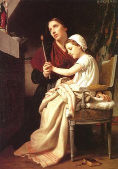 Le voeu - William Adolphe Bouguereau (1825 – 1905, French)