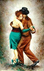 Lujan Gallardo, Mi Buenos Aires querido Tango Art, Tango Dance, Types Of Ballroom Dances, Cute Couple Drawings, Dancing Drawings, Dance Paintings, Globe Art, Partner Dance, Argentine Tango