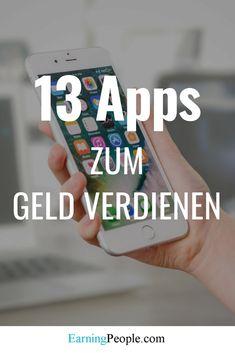 Earn money with apps - Geld verdienen - Finance Make Easy Money, How To Make, Earn Money Online Fast, Finance, Money Plan, Cash Money, Budget Planer, Investing Money, Home